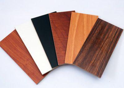 Woodgrain and Plain Colour Print on 3mm MDF