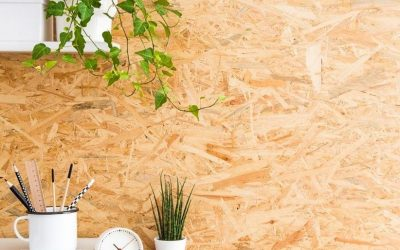 Bring a unique and stylish look to your spaces with Oriented Strand Board